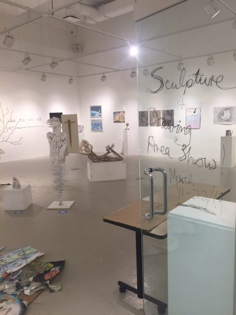 photo of the 2019 Sculpture and Drawing Area exhibition