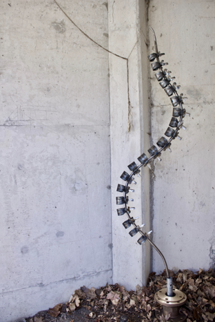 "Backbone, Esther Kim 2019, 24"" x 12"" x 88.5'', Steel"