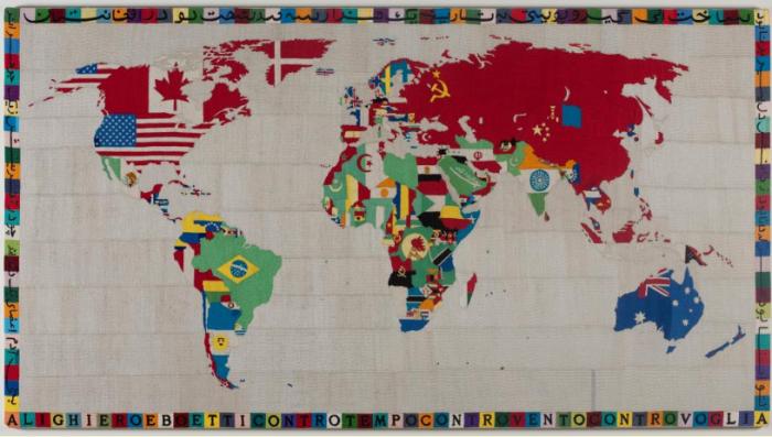 Alighiero Boetti, Map, 1971-72
