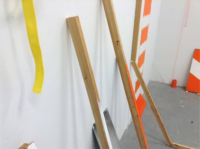 Tamayo Studio space, West wall, 2017