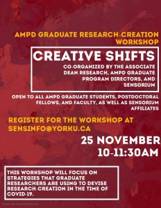 Image of Creative Shifts event poster.